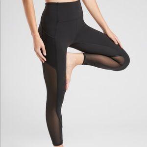 Black full length with mesh legging